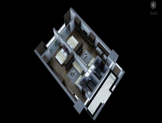 Layout of 1 bedroom apartments in Lancaster Hanoi