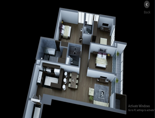 Layout of 3 bedroom apartments in Lancaster Hanoi