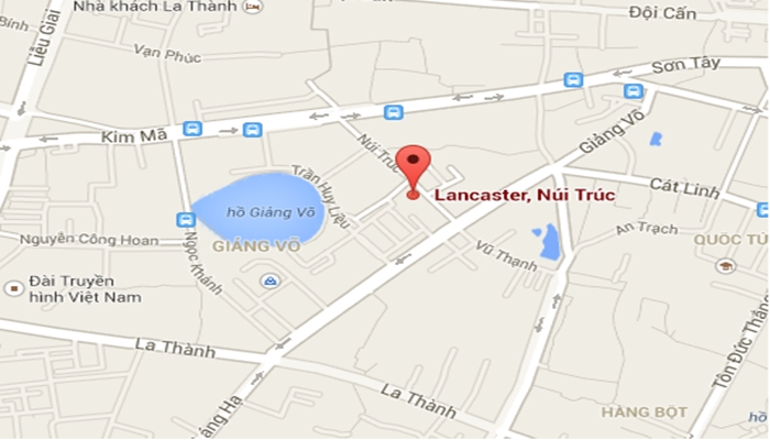 Location of Lancaster Hanoi Building