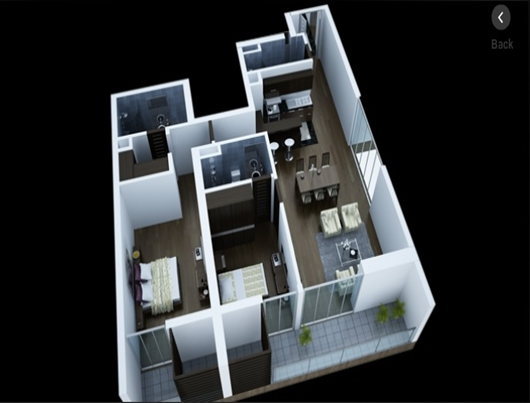 Layout of 2 bedroom apartments in Lancaster Hanoi