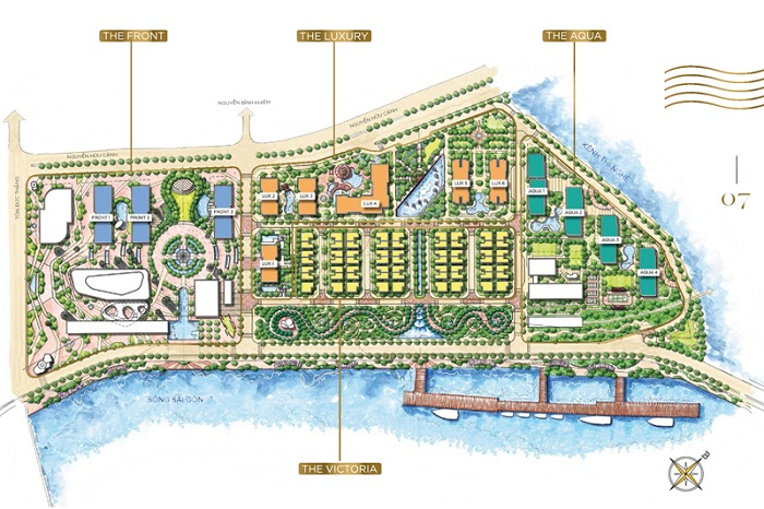 Master plan of Vinhomes Golden River